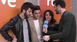 Los candidatos a Eurovisión se mojan y opinan sobre Las Ketchup, Son de Sol, Soraya y Edurne