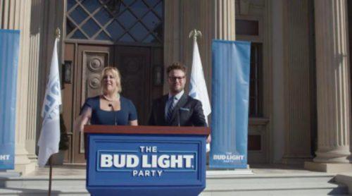 Anuncio de Bud Light para la Super Bowl 2016, con Amy Schumer y Seth Rogen