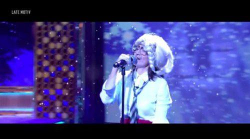 """Silvia Abril vuelve a ser la niña de Shrek en 'Late Motiv' y versiona """"Let it go"""" de """"Frozen"""""""