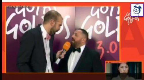 Pepón Nieto se enfada tras un comentario de un reportero de TVE en los Goya 2016