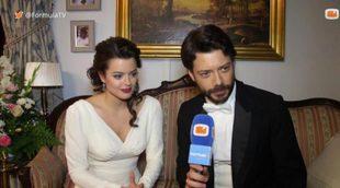 Adriana Torrebejano (Sol) y Álvaro Morte (Lucas) desvelan algunos detalles de su boda en 'El secreto de Puente Viejo'