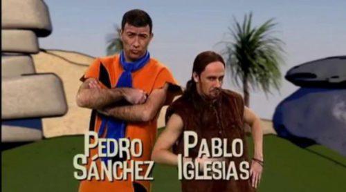 Pedro Sánchez y Pablo Iglesias se convierten en 'Los Picapiedra' en 'Polònia'