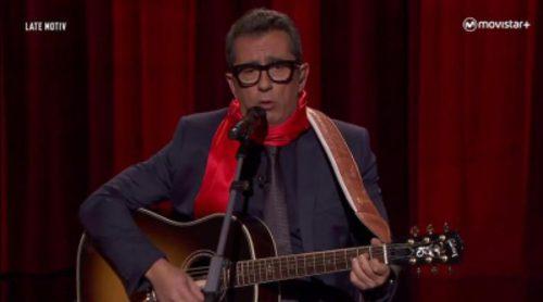¡Anarkía Total! Buenafuente se vuelve cantautor protesta en 'Late motiv' con este tema sobre la actualidad política