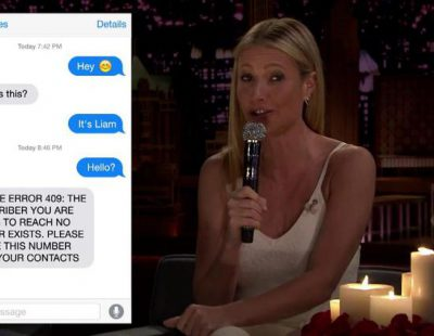 """Gwyneth Paltrow acude al programa de Jimmy Fallon y termina """"cantando"""" vergonzosos mensajes de amor"""