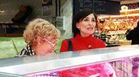 Manuela Carmena va al mercado a hacer la compra para cocinar en Canal Cocina