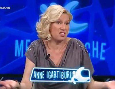 El extraño acento andaluz de Anne Igartiburu en 'Menuda noche'