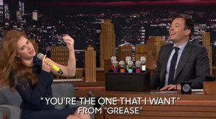 """Amy Adams canta """"Work"""" de Rihanna con la voz distorsionada en el programa de Jimmy Fallon"""