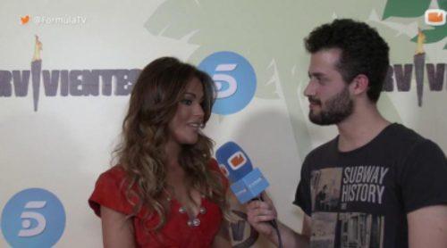 """Lara Álvarez ('Supervivientes'): """"Al principio tuve miedo a la aceptación tras la gran Raquel Sánchez Silva"""""""