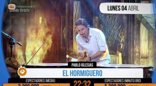 """Pablo Iglesias consigue el ansiado """"Minuto de oro"""" tocando la melodía de 'Juego de Tronos'"""