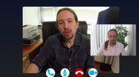 Pablo Iglesias aconseja a Marc Rodríguez, su imitador en 'Polònia' (TV3)