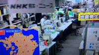 La televisión japonesa tiembla con el terremoto de 6,4 grados en Kumamoto