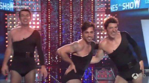 """David Bustamante, Manel Fuentes y Arturo Valls bailan """"Single Ladies"""" sobre tacones en 'Los viernes al show'"""