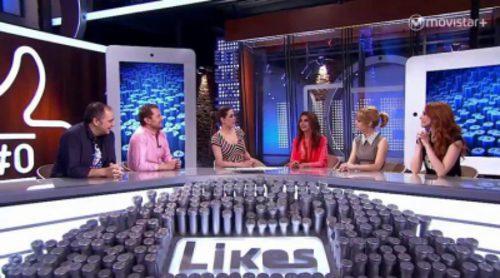Victoria Abril, Alexandra Jiménez y Cristina Castaño juegan en 'Likes' a decir algo cuyo significado es opuesto a lo que piensan