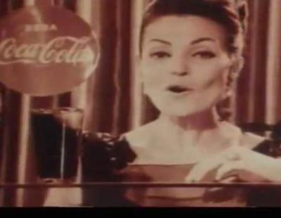 Primer anuncio de Coca-Cola emitido en España, con Carmen Sevilla