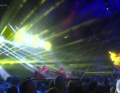 """Actuación de Georgia, Nika Kocharov & Young Georgian Lolitaz """"Midnight Gold"""" en Eurovisión 2016"""