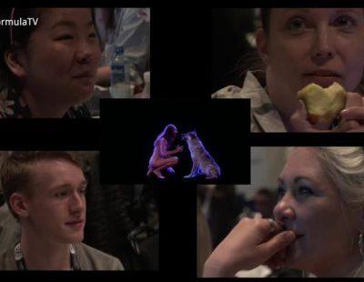 Las reacciones en la sala de prensa de Eurovisión al desnudo de Mans Zemerlow y al del bielorruso