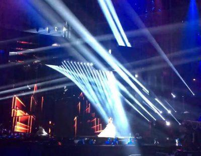 "Dami Im (Australia) interpreta ""Sound of Silence"" en el Dress Rehearsal de Eurovisión 2016"