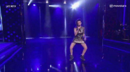 Silvia Abril volvió a Eurovisión en 'Late motiv': así fue su imitación de Barei