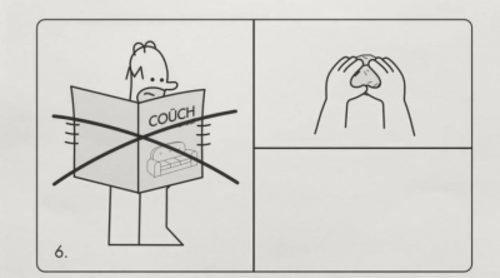 Las instrucciones para crear un gag del sofá de 'Los Simpson' como un mueble de Ikea