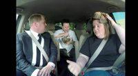 La mujer Chewbacca lleva al trabajo a James Corden y J.J. Abrams en el 'The Late Late Show'