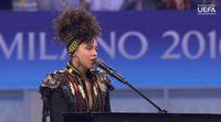 La impresionante actuación con la que Alicia Keys abrió la final de la Champions League con sus mejores hits
