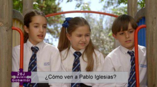 Esto es lo que piensan los niños de '26J. Quiero gobernar' de Pablo Iglesias