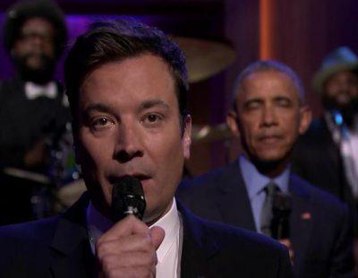 """La última de Jimmy Fallon: consigue que Obama cante el """"Work"""" de Rihanna"""