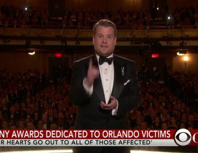 El homenaje de James Corden a las víctimas de Orlando en los Tony 2016