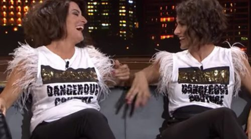 Barei se reúne con su doble, Silvia Abril, en 'Late Motiv'