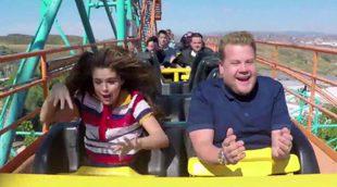 Selena Gomez traslada el 'Carpool karaoke' de James Corden a una montaña rusa