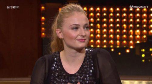 Sophie Turner (Sansa Stark en 'Juego de Tronos') visita 'Late motiv': imágenes del casting, evolución del personaje y la fama