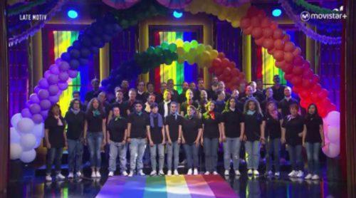 """El coro de voces LTGB de Madrid entona el """"Born This Way"""" de Lady Gaga en 'Late motiv'"""
