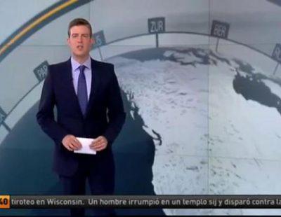 Ángel Carreira presentando el informativo matinal de Antena 3