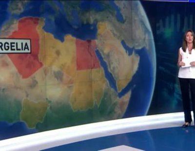 María José Zamora explicando en plató de Antena 3 Noticias la situación en el Estado Islámico