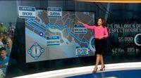 Esther Nguema presenta en el plató de Antena 3 Noticias