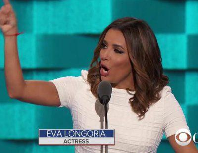 Eva Longoria ataca a Donald Trump y da su apoyo a Hillary Clinton en la DNC