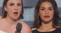 Lena Dunham y America Ferrera se unen contra Donald Trump en su poderoso discurso en la Convención Nacional Demócrata
