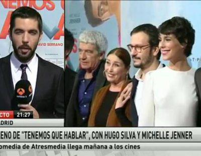 Gonzalo del Prado haciendo un directo para Antena 3 Noticias