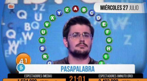 'Pasapalabra' arrasa en el Minuto de Oro gracias a la lucha de campeones