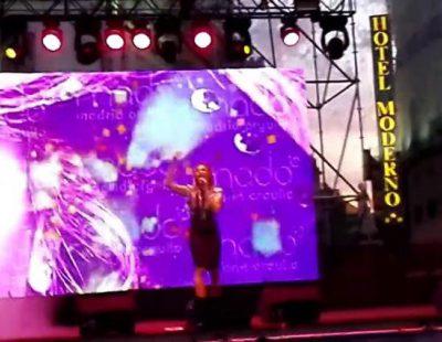 Encarna Navarro durante su actuación en el MADO 2016