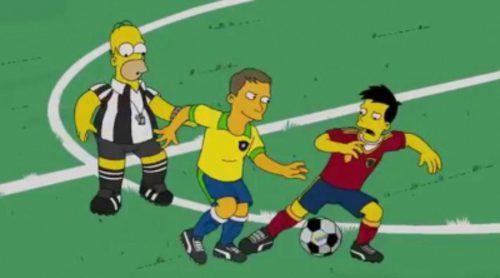 El cameo de la Selección Española en 'Los Simpson'