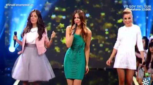 """Merche, María Parrado y Natalia interpretan """"Mañana"""" junto a los seis finalistas de 'Fenómeno fan'"""