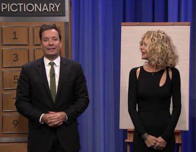 Meg Ryan y Jimmy Fallon juegan a un alocado Pictionary