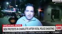 Agreden violentamente a un reportero de la CNN durante las protestas en Charlotte