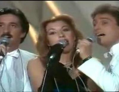 """Actuación de """"Trigo Limpio"""" en el Festival de Eurovisión 1980 representando a España"""