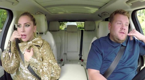 Avance del Carpool Karaoke de Lady Gaga con James Corden