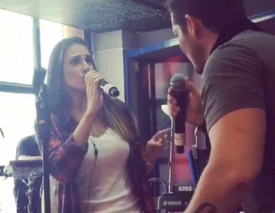 """'OT. El reencuentro': Nuria Fergó y Manu Tenorio ensayan """"Noches de bohemia"""" para el concierto"""