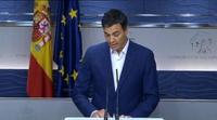 Pedro Sánchez renuncia al acta emocionado