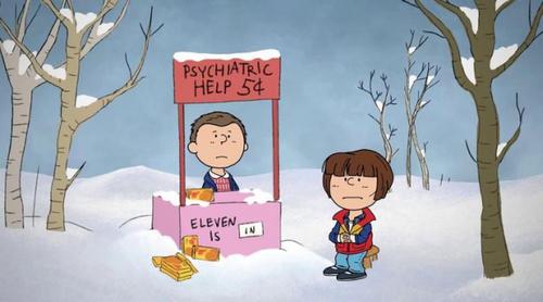'Stranger Things' se caricaturiza a lo Snoopy por Navidad
