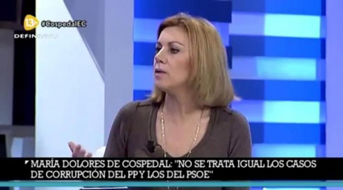 María Dolores de Cospedal predijo la muerte de Rita Barberá en febrero